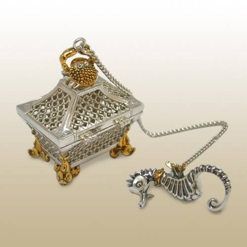 Серебряное ситечко Ларец (серия Конек-горбунок)