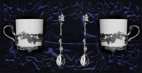 Серебряные чайные пары