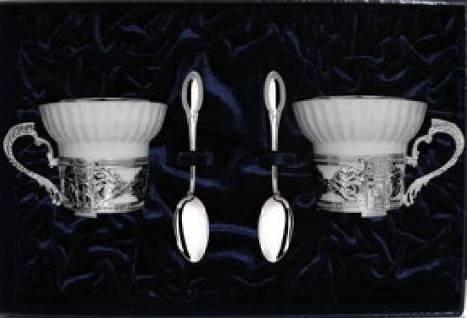 Серебряные кофейные пары