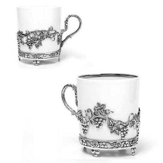 Кофейные чашки с фарфором