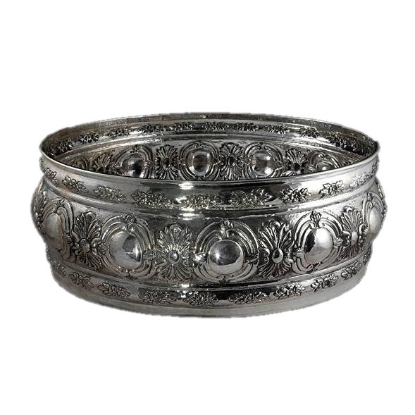 Серебряная ваза Кабошон