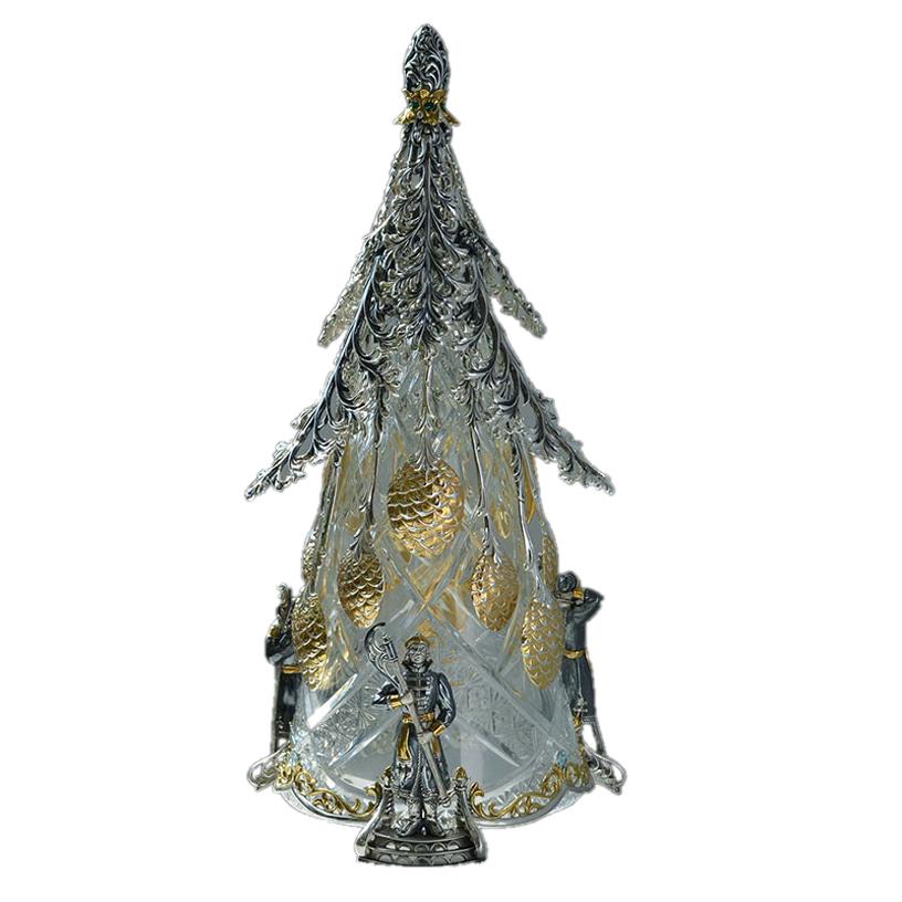 Набор ложек Ель (серебро и хрусталь)